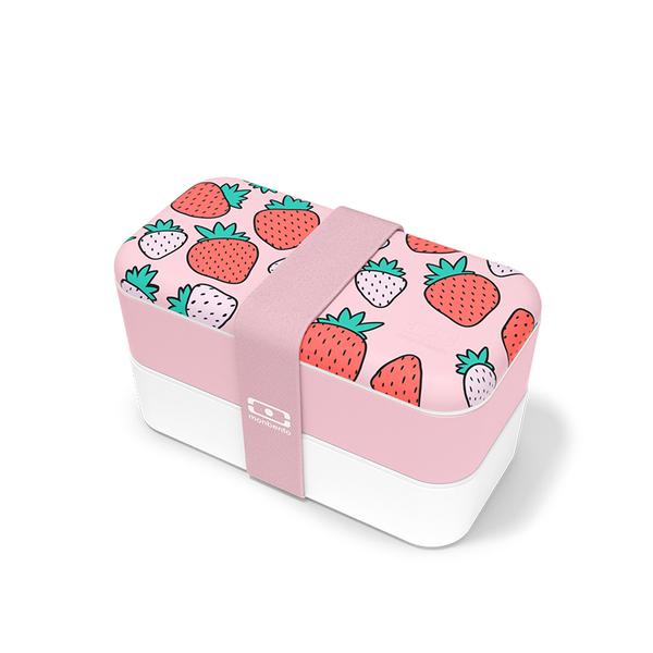 法国monbento日式分割型便当盒,女生粉色上班礼物