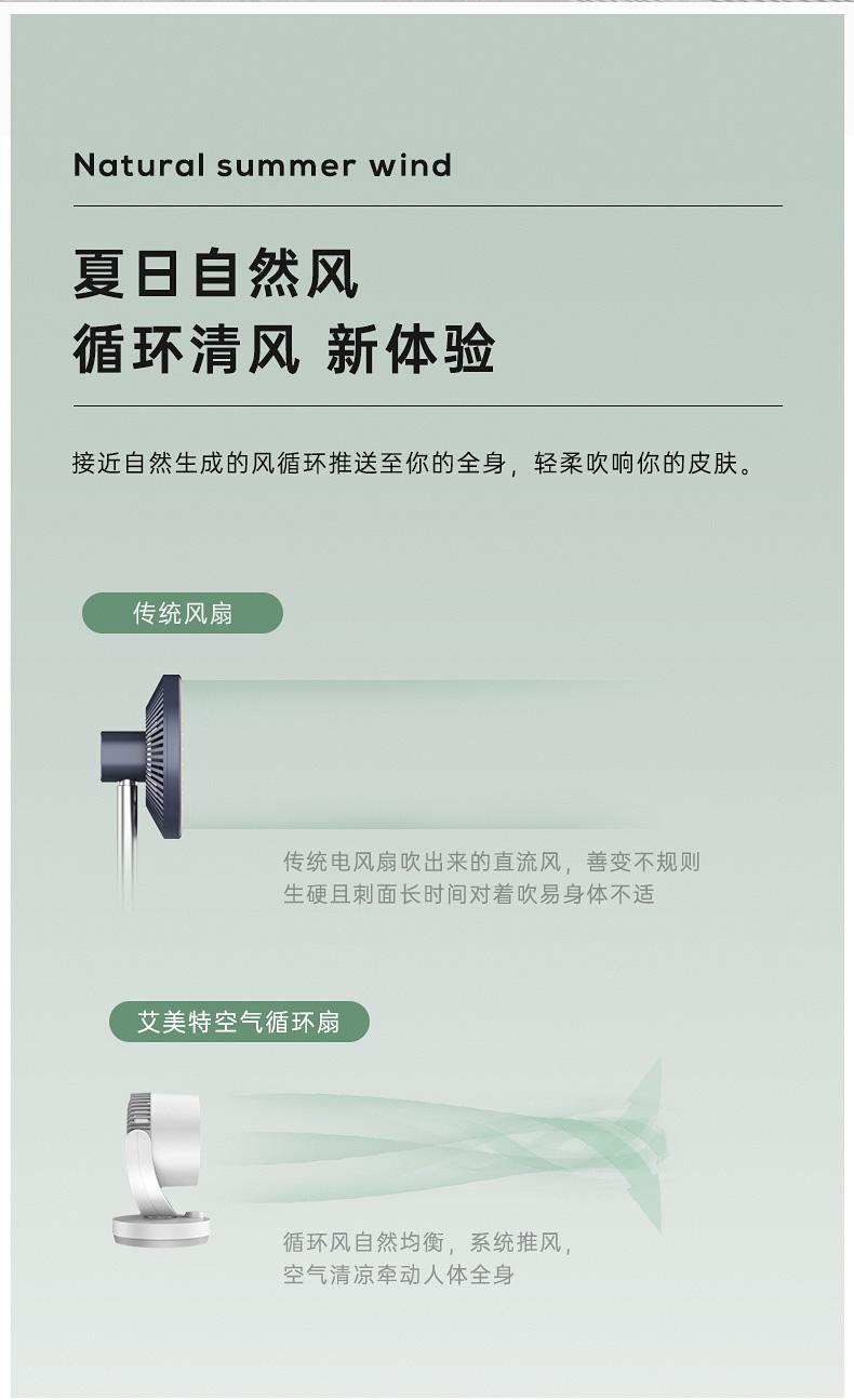 艾美特 可遥控空气循环扇 三叶涡轮巨幅扇叶 图5