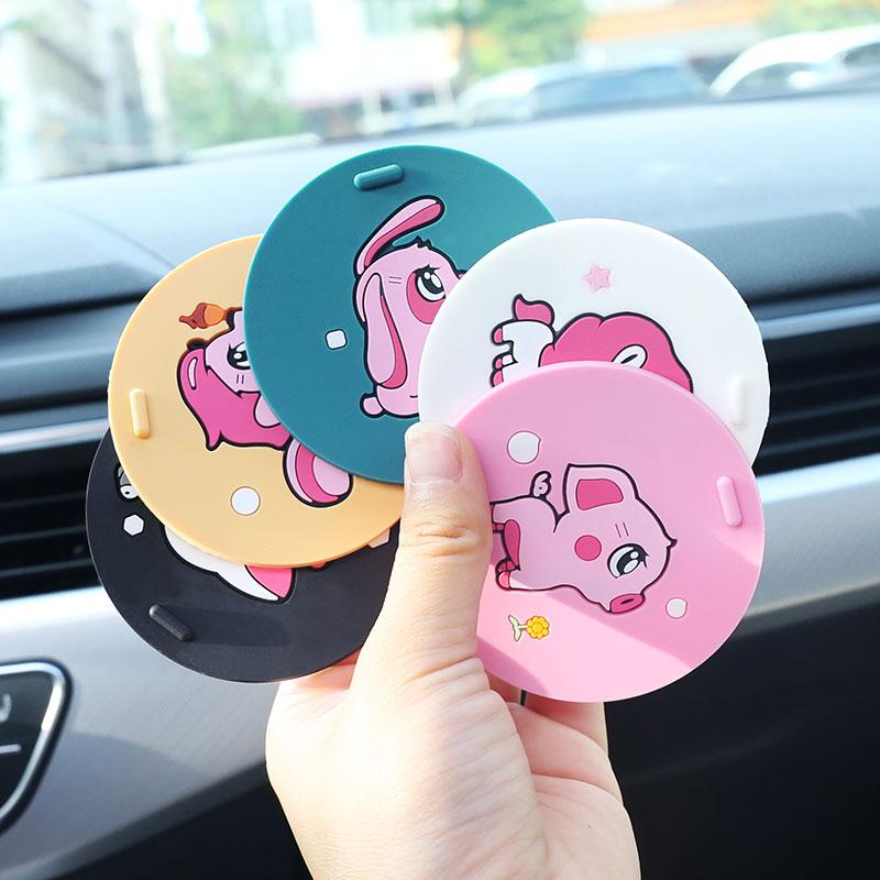 Car water coaster universal car slot pad coaster Silicone cartoon cute car interior decoration supplies Daquan