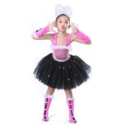 Girls Jazz Dance Costumes Children's dancers, dancers, cats, animal dances, Penguin skirts, modern nursery costumes