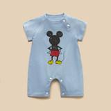 【迪貝莉】嬰兒純棉開檔連體衣 劵后9.9元包郵