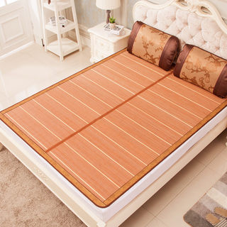 Summer mat 1.8m bed double 2 meters x2.0 double-sided folding 1.2 bamboo mat 1 straw mat mat for winter and summer 1.5