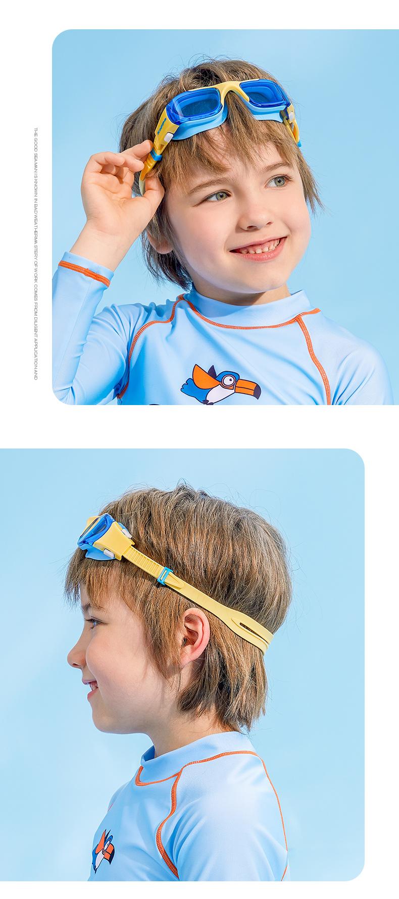 Kappa 儿童 大框泳镜 高清防水防雾 图11