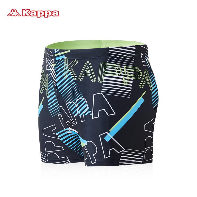 Kappa游泳裤男士平角短裤防尴尬专业训练速干泡温泉泳衣大码泳装