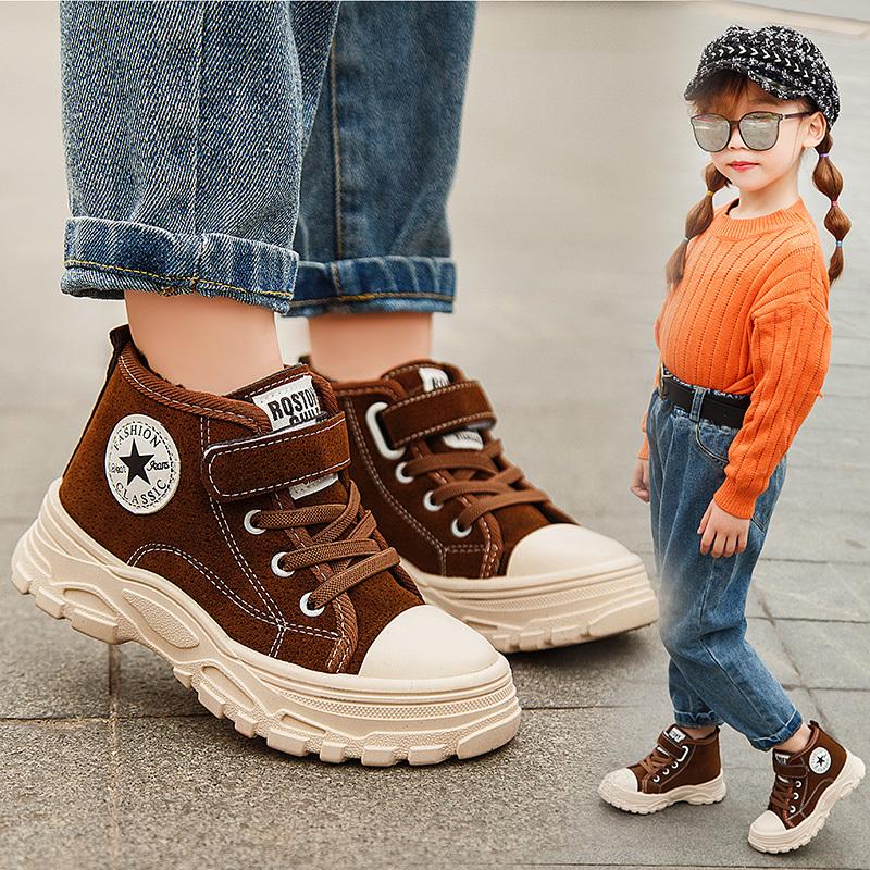 男女童鞋加绒保暖马丁靴