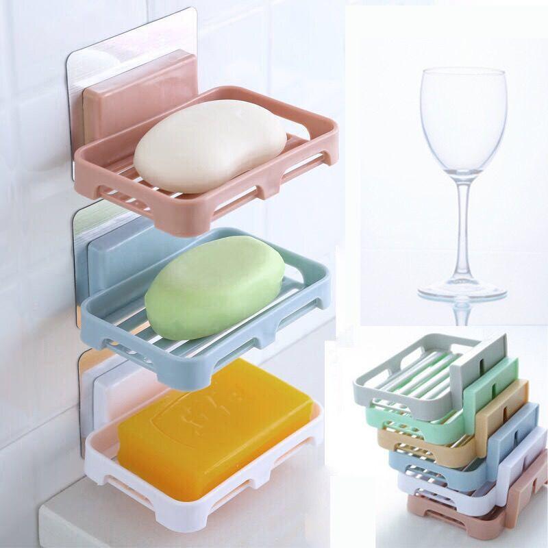 免打孔沥水三层双层盒子卫生间置物架肥皂架香皂盒虑水香皂盒