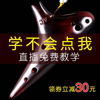A soil Ocarina 12 holes to send 6 holes plastic beginners introduction Alto C key 12 holes AC professional playing Tao Xun musical instrument