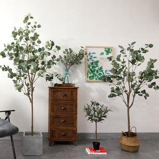 Тайский кольцо нордический ветер ins моделирование эвкалипт дерево чистый красный магазин зеленый завод завод комнатные люди ночь гостиная этаж декоративный, цена 2224 руб