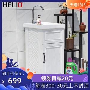 喜奥阳台铝合金洗衣柜陶瓷洗衣盆太空铝浴室柜带搓板洗衣池小户型