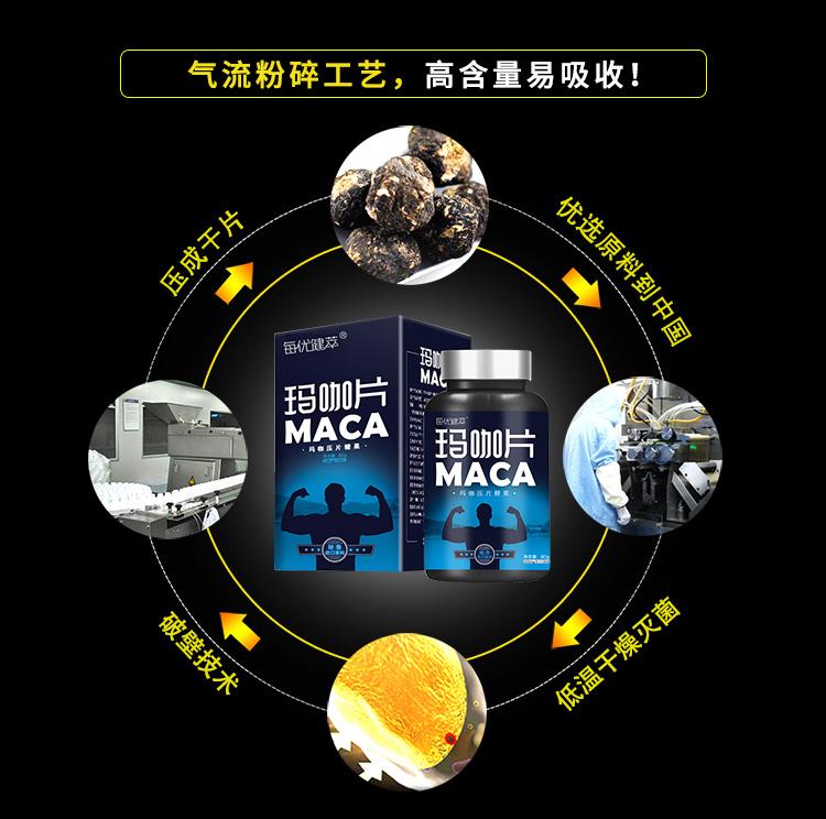 每优健萃玛卡片黑玛咖片黄金玛卡正品Maca成人口服男性女性通用商品详情图