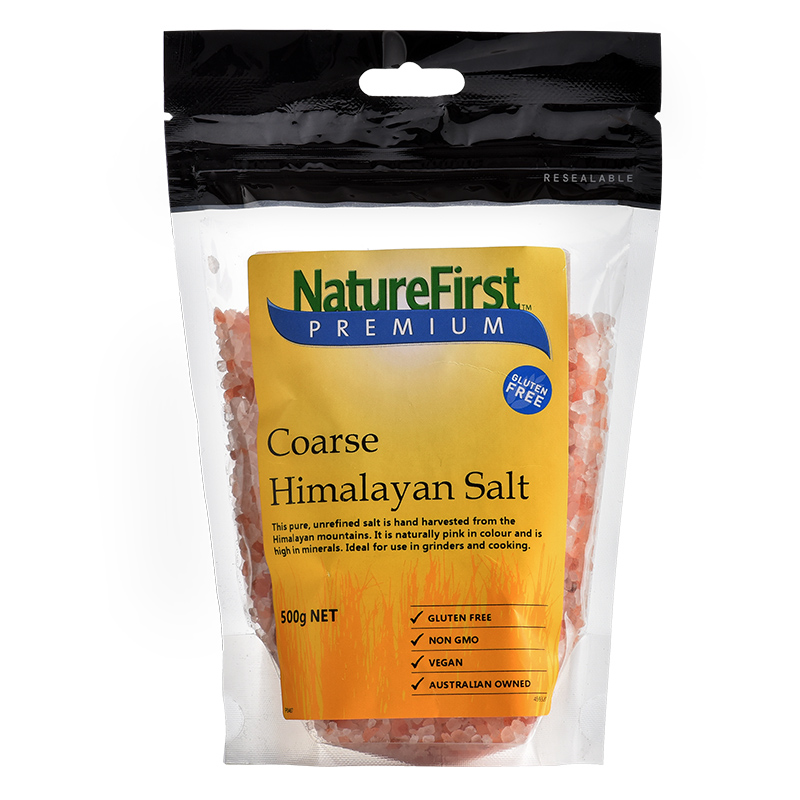 Nature First海盐喜马拉雅粉红岩盐 粗盐 500g进口红粉色玫瑰食盐
