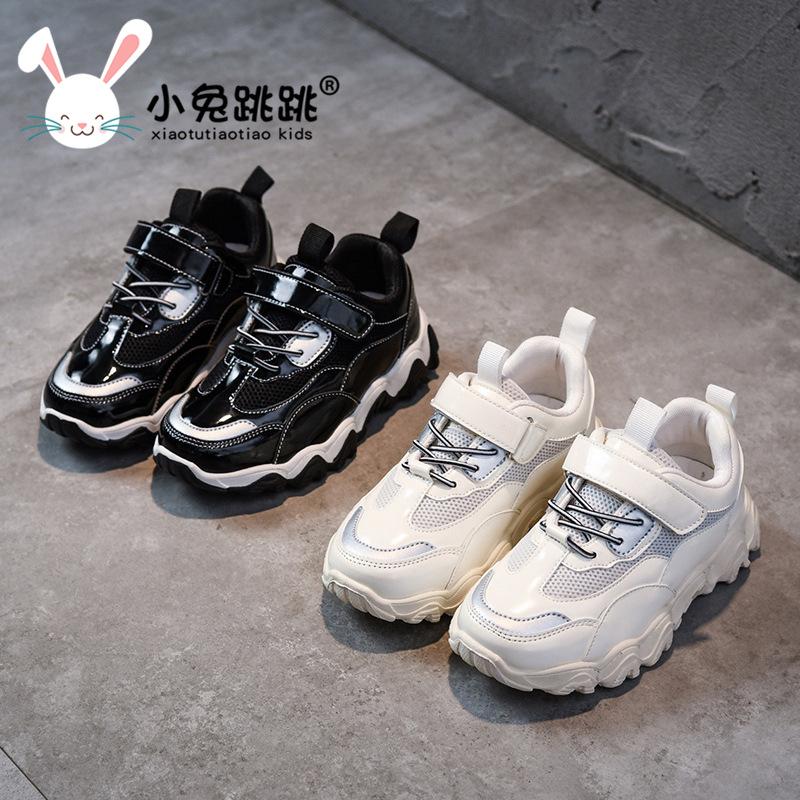 儿童运动鞋女童波浪鞋2020春秋款新款中大童老爹鞋学生鞋子男童鞋