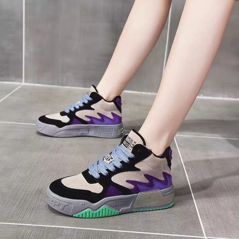 老爹�鞋子女2020年新款秋季女鞋爆款百搭休闲运动鞋�厚底板鞋ins潮