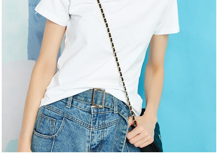 白色t恤女短袖修身打底衫女秋冬内搭体桖纯棉简单半袖纯白基础款详细照片