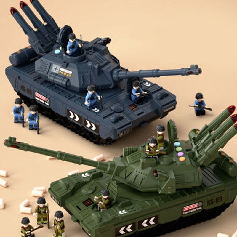 儿童大号坦克玩具车∑男孩多功能益智套装各类合金小汽车模型4-5岁