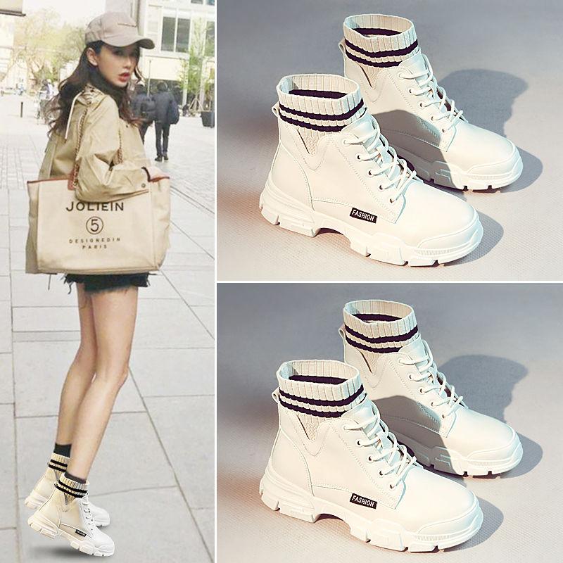 冬季加绒加棉百搭英伦风马丁靴短靴
