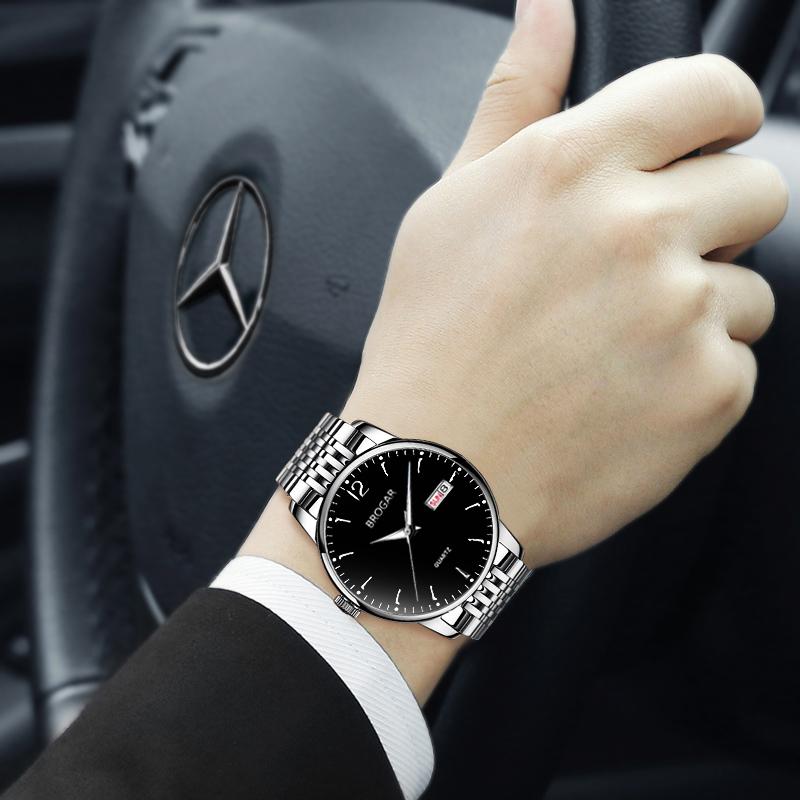 手表潮流全自动机械表2019新款男士学生瑞士夜光防水商务钢带男表