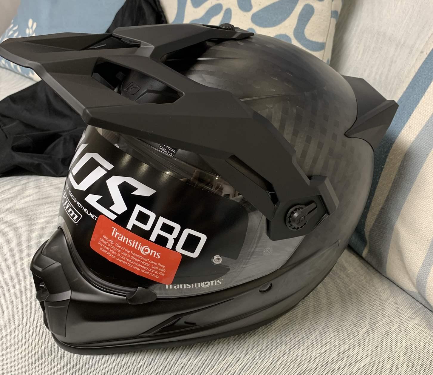 高档现货kriospro变色片碳纤维ADV头盔绝版拉力摩托宝马越野珍