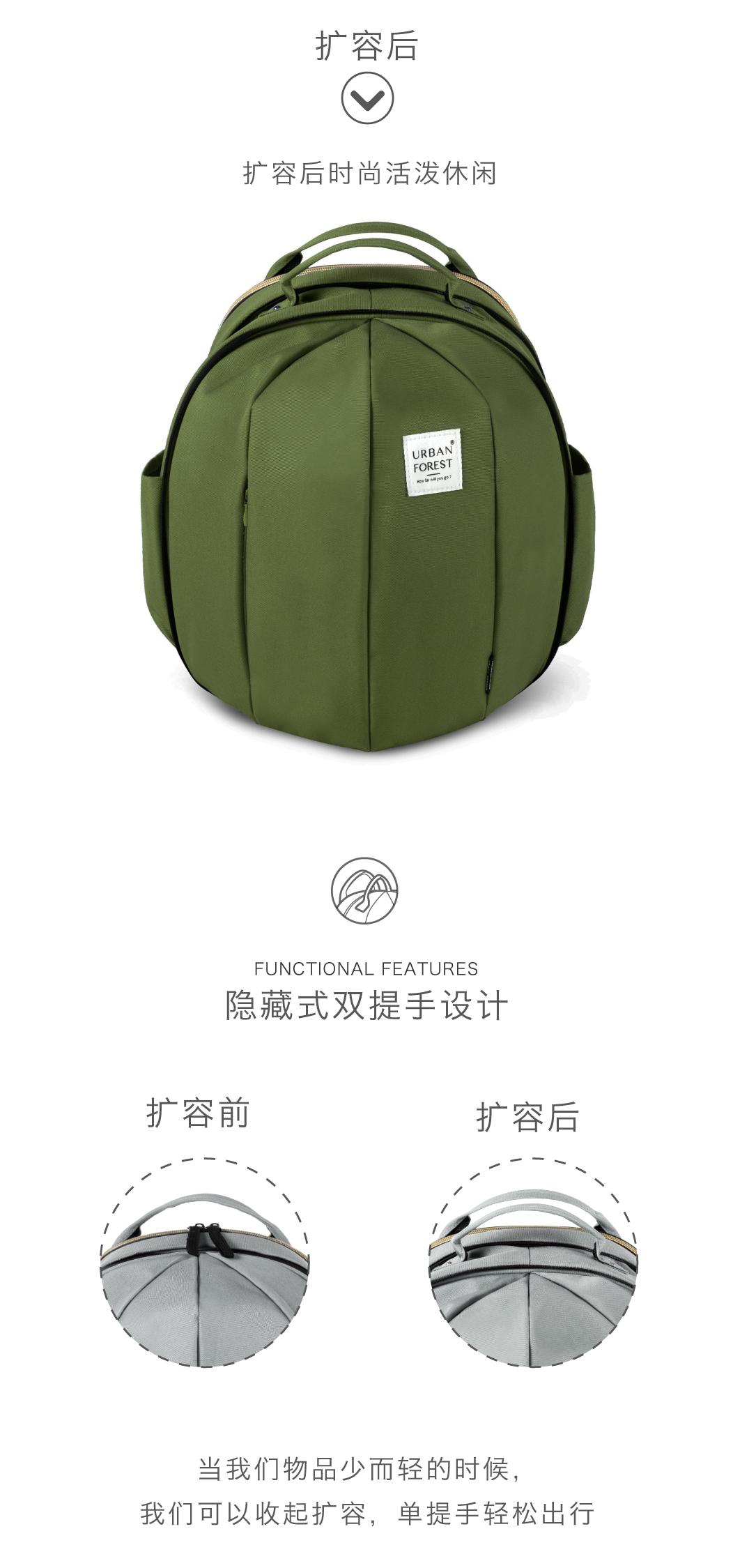 URBAN FOREST电脑包双肩包大容量
