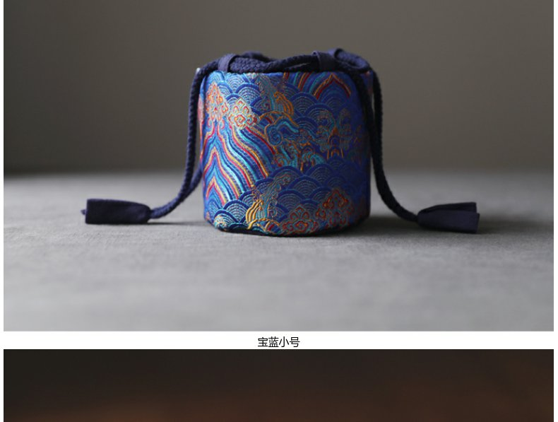 Continuous blowy expanse of mud - brocade silk caddy fixings teapot tea cups to receive bag bag bag wave grain cloth