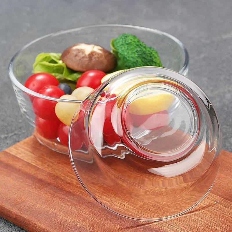 【虾选】玻璃碗沙拉碗2件套