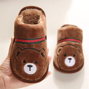 Carrying shoes, baby boy, cotton slippers, children, winter, middle-aged, big child, ten-year-old boy bag, winter men and women dormitory