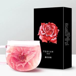 李湘同款特典玫瑰花茶食用云南大朵旗舰店正品花冠墨红干玫瑰有机