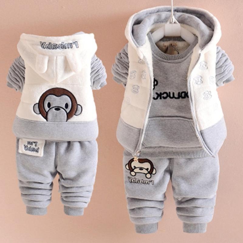 3-4-5-6-9-12个月男童秋冬装衣服纯棉01-2岁女宝宝冬季婴儿套装