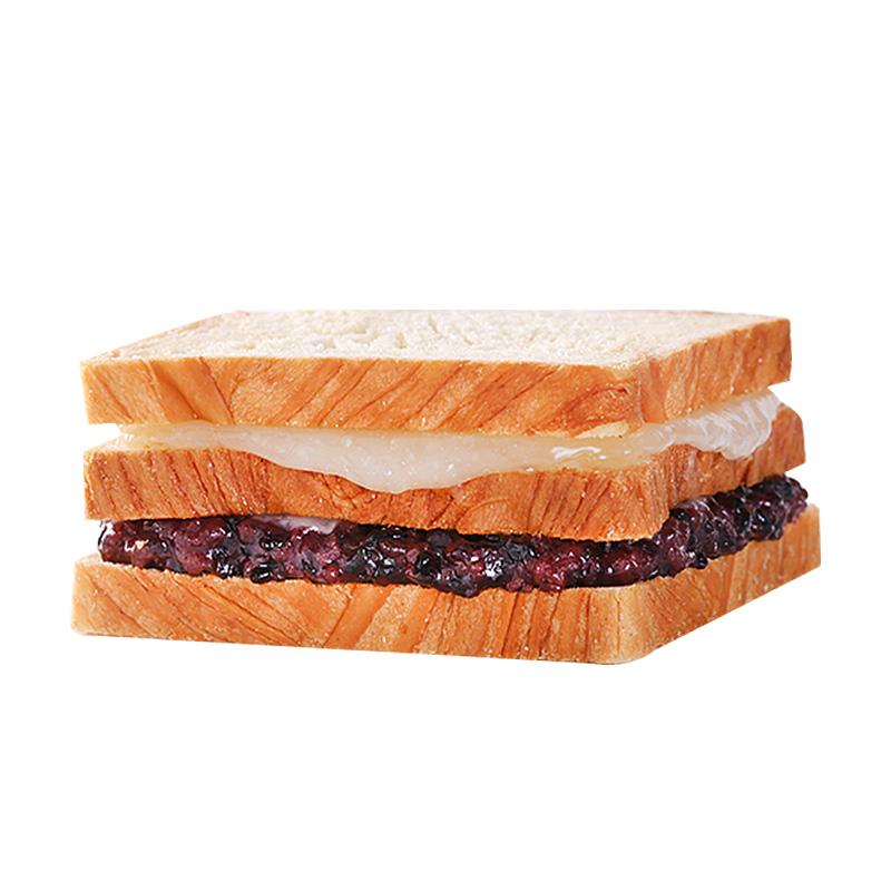 紫米面包黑米奶酪夹心面包吐司切片蛋糕营养点心早餐零食品整箱
