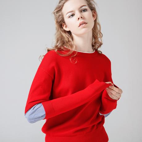 | Цена 4062 руб | 【 зазор 】 рано язык хеджирование свободный красные волосы одежда время Модный нищий ветер отпуск петарда уютный свитер женщина