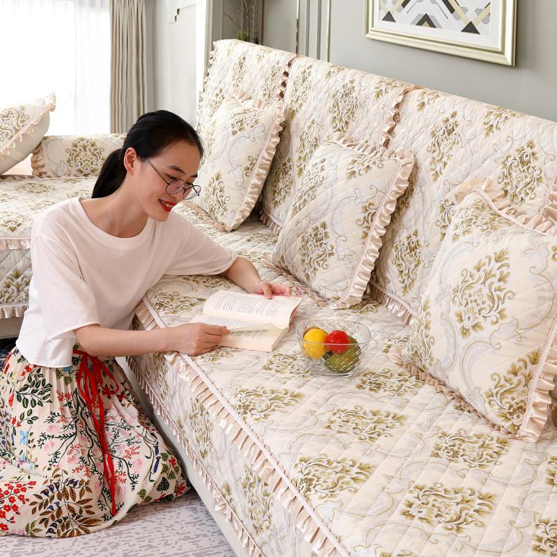 沙发垫欧式布艺四季通用现代简约防滑坐垫沙发套全包非萬能套罩盖