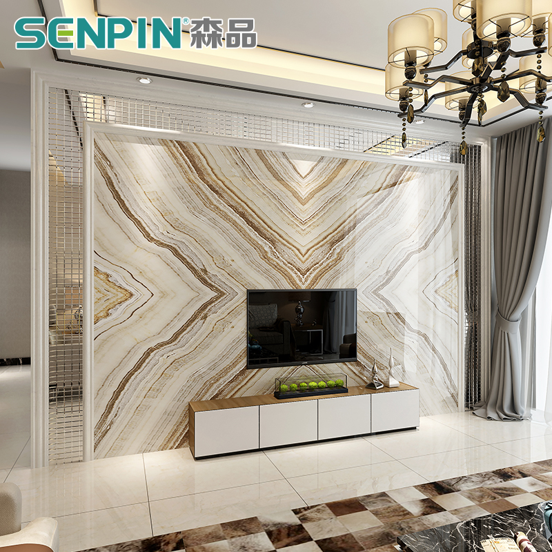 Merveilleux Living Room TV Background Wall Tile Modern Simple Imitation Marble  Background Wall Mosaic Glass Dapeng Wings