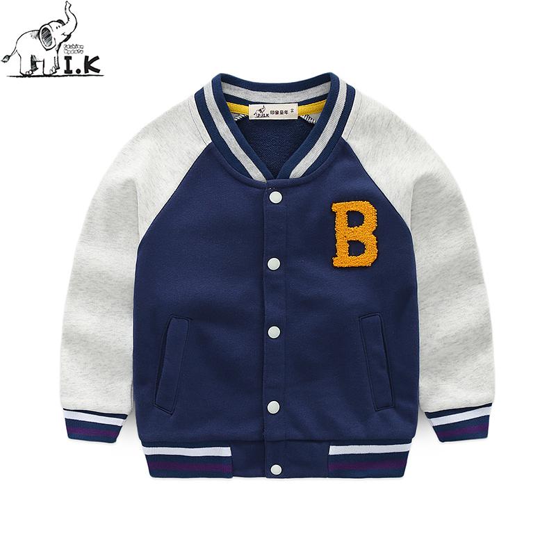 男童童年新品印象针织童装服2019秋棒球儿童洋气v男童中小童外套