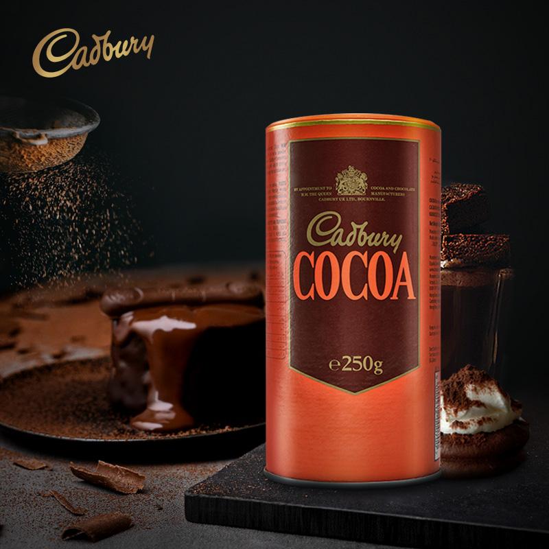 英国进口 250g 吉百利 无糖巧克力粉