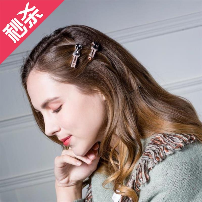 Adornment dish hair V into years of ornaments female hairpin bangs crossclip popular female girls and children girls school