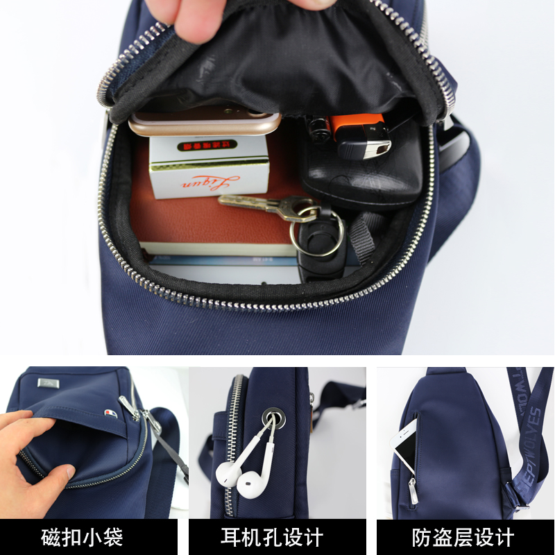 41f387a15193 ... chest bag men s sports casual messenger bag waterproof oxford cloth  men s bag student. Zoom · lightbox moreview · lightbox moreview · lightbox  moreview ...
