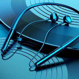 运动无线蓝牙耳机双耳入耳头戴式颈挂脖式跑步型男女通用超小型挂耳适用于oppo苹果华为项圈超长待机续航安卓