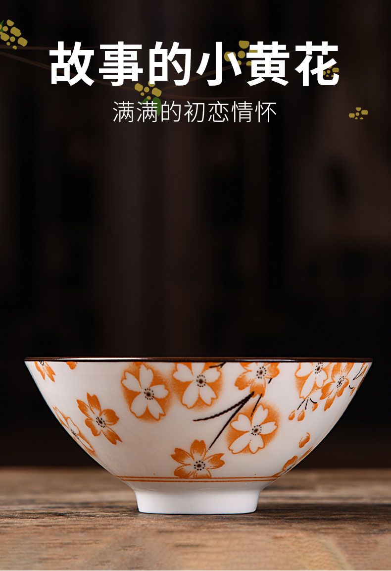 HaoFeng ceramic kung fu tea set suit household sample tea cup master cup personal cup single cup cup tea accessories