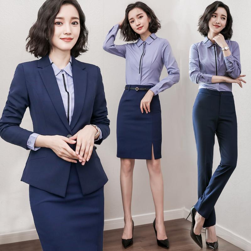Оккупация установите женщина бизнес официальная одежда поверхность тест 2018 новый весна костюм юбка работа одежда темперамент OL форма
