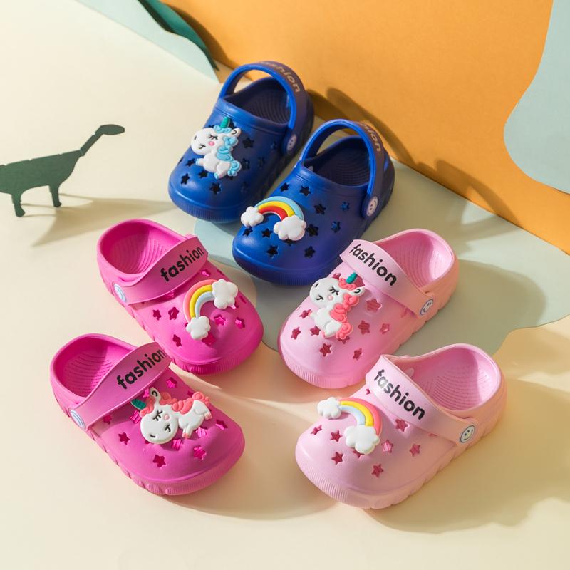 夏季儿童洞洞鞋防滑男童女童宝宝拖鞋