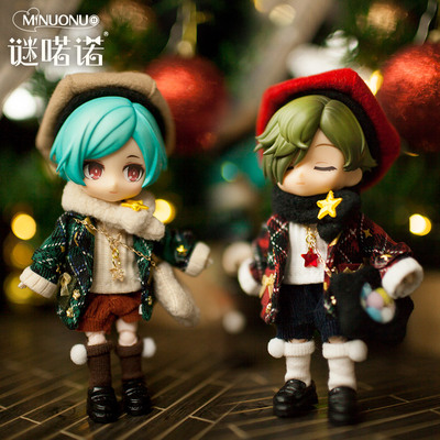 taobao agent Mystery 喏诺 Christmas and New Year OB11 baby clothes gsc bow set BJD baby star pain bag clothes lattice bronzing