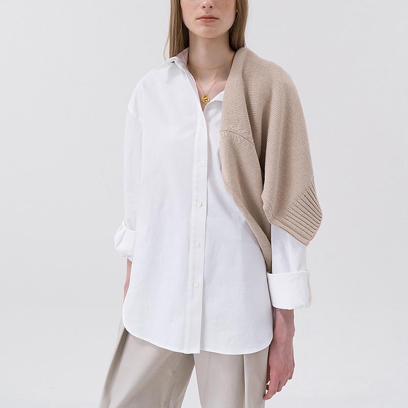 纯棉设计感小众衬衫女2020秋新款盐系男友风长袖oversize衬衣宽松
