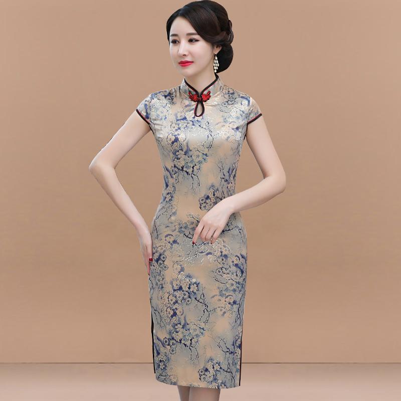 Sườn xám cải tiến, phong cách trẻ trung của Trung Quốc, Trung Hoa Dân Quốc, quần áo phụ nữ retro, phụ nữ hàng ngày mùa hè, váy phong cách nhỏ - Phụ nữ cao cấp