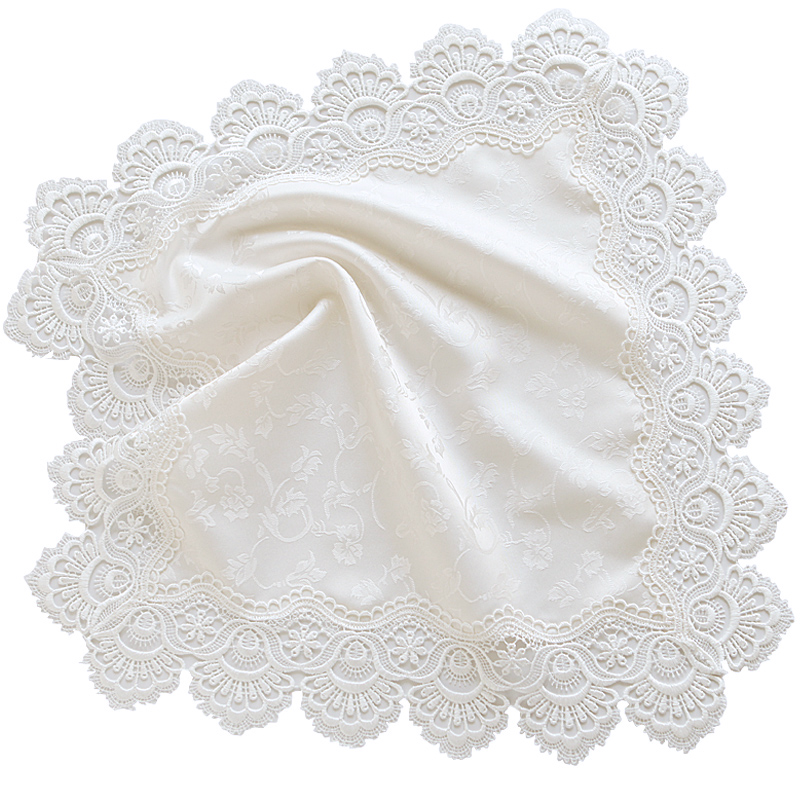 Hàn Quốc 5152 trắng Mục vụ châu Âu ren đầu giường bàn đa năng khăn khăn tủ TV bàn cà phê bụi bảo vệ bộ - Bảo vệ bụi