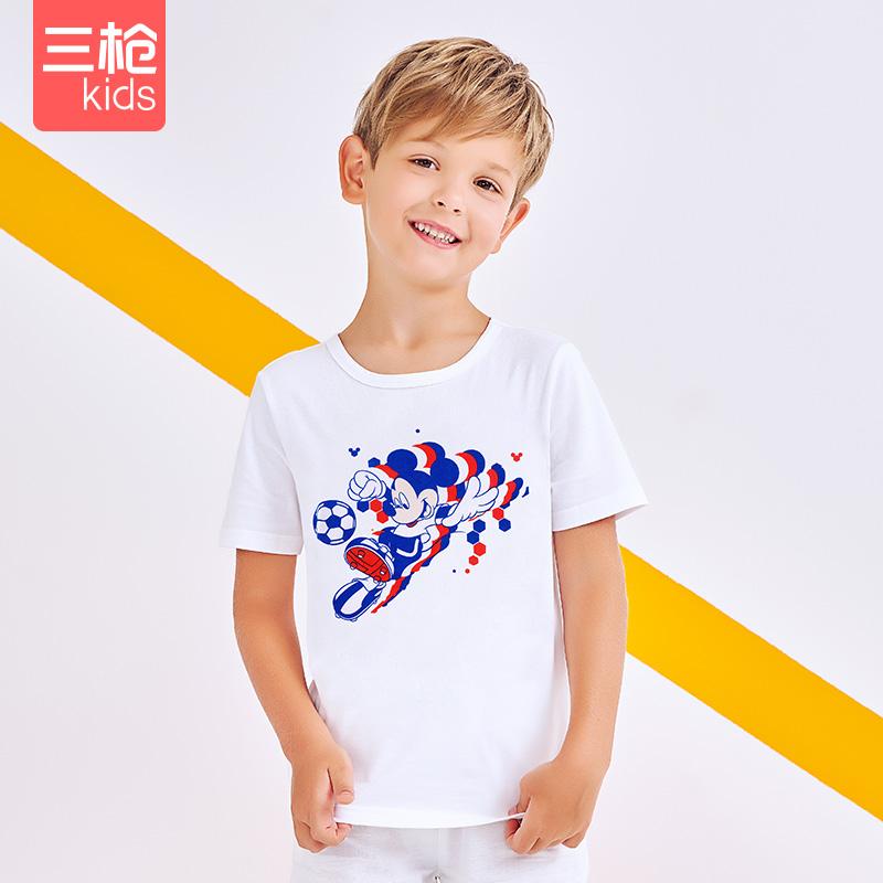 三枪儿童t恤男童短袖衫女童上衣洋气中大童韩版潮流上装打底体恤