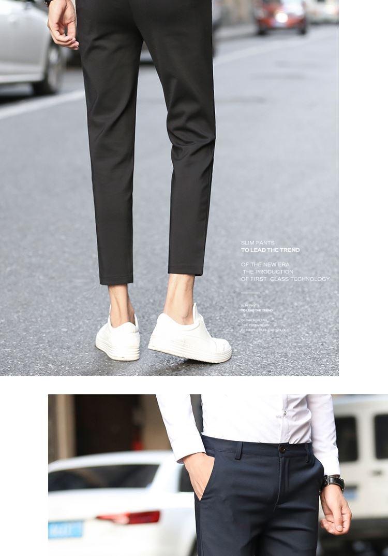 Quần chín nam phù hợp với quần lửng chân 9 điểm quần tây nam tinh thần giản dị quần nam phiên bản Hàn Quốc của xu hướng - Quần