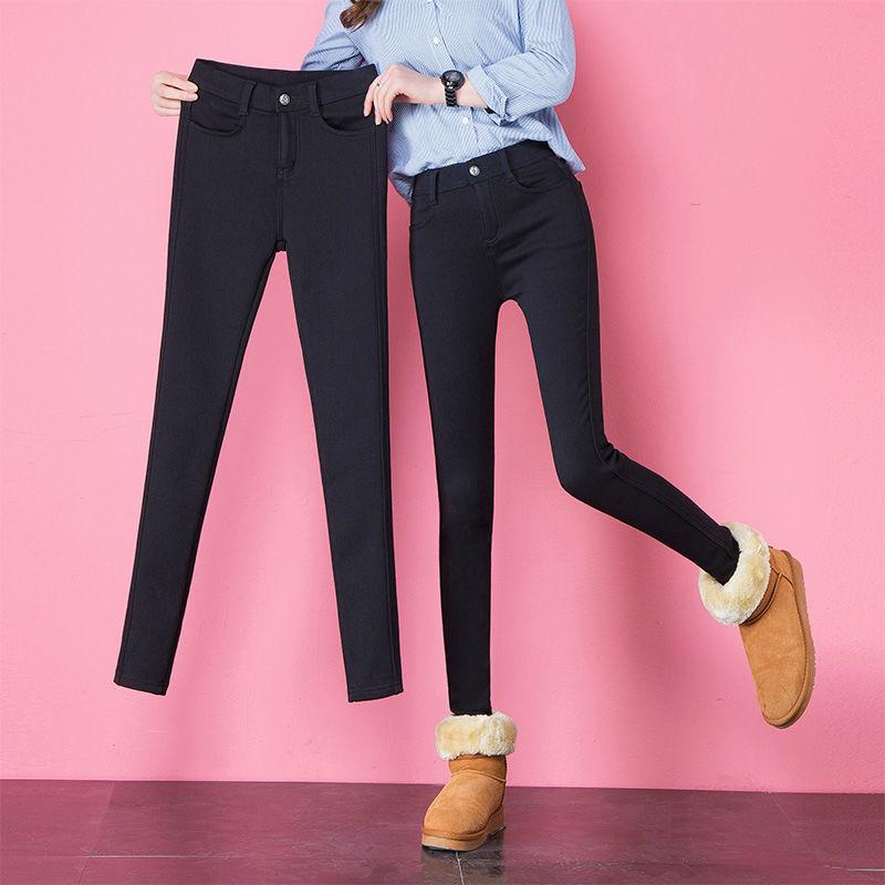 加绒/不加绒打底裤小脚外穿新款高腰魔术女士秋裤女冬季加厚