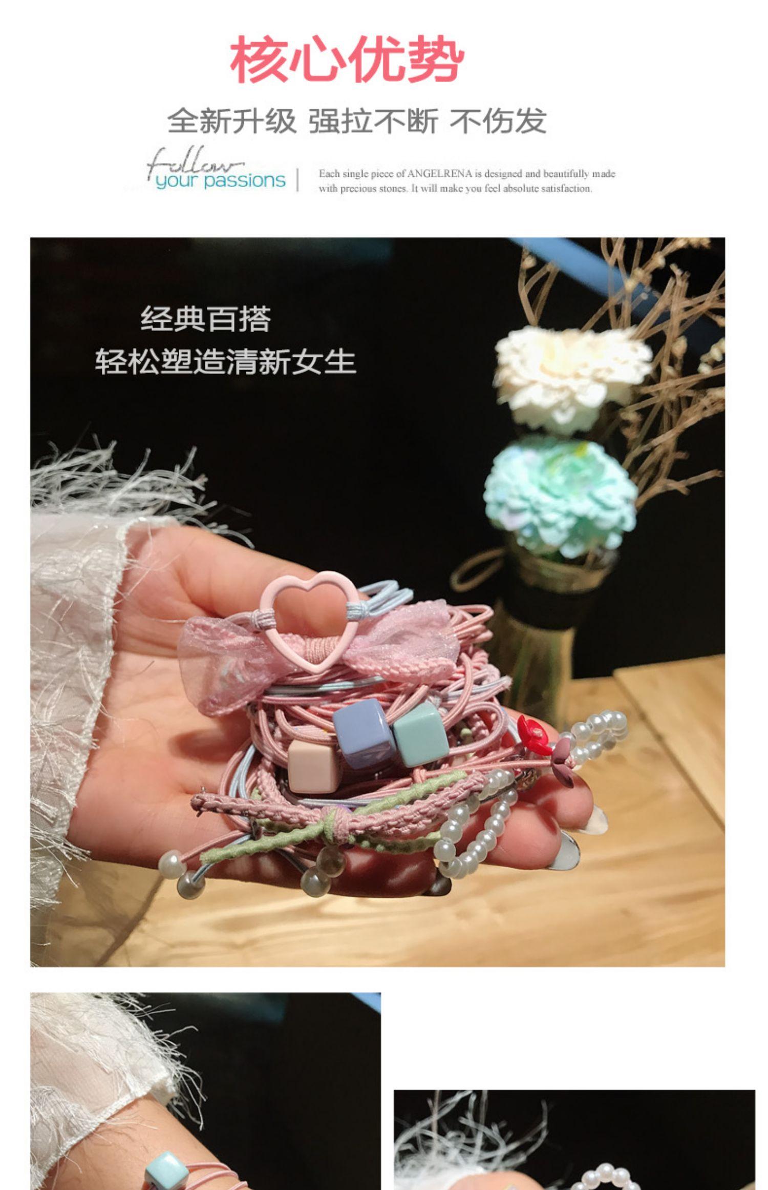 韩国头绳ins可爱少女网红发圈商品图片-1