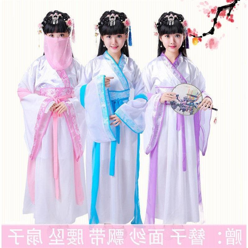 Trang phục trẻ em cổ tích trang phục bé gái Trang phục nhà Đường Trang phục cổ tích trang phục cổ tích guzheng biểu diễn trang phục Ngày tết trang phục biểu diễn trang phục - Quần áo ngoài trời