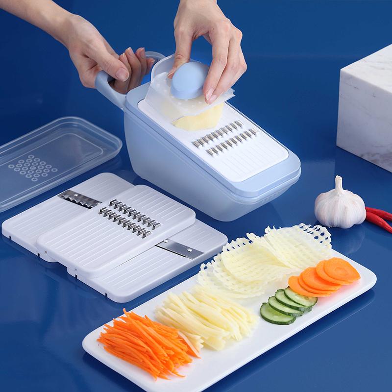 莱柏顿家用多功能切菜器刨丝器切片器切丝器土豆擦丝磨蓉厨房神器